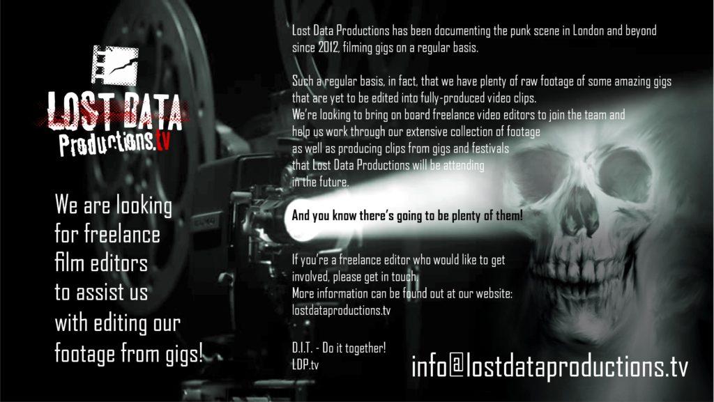 Freelance Video/Film Editors - WE NEED YOU!