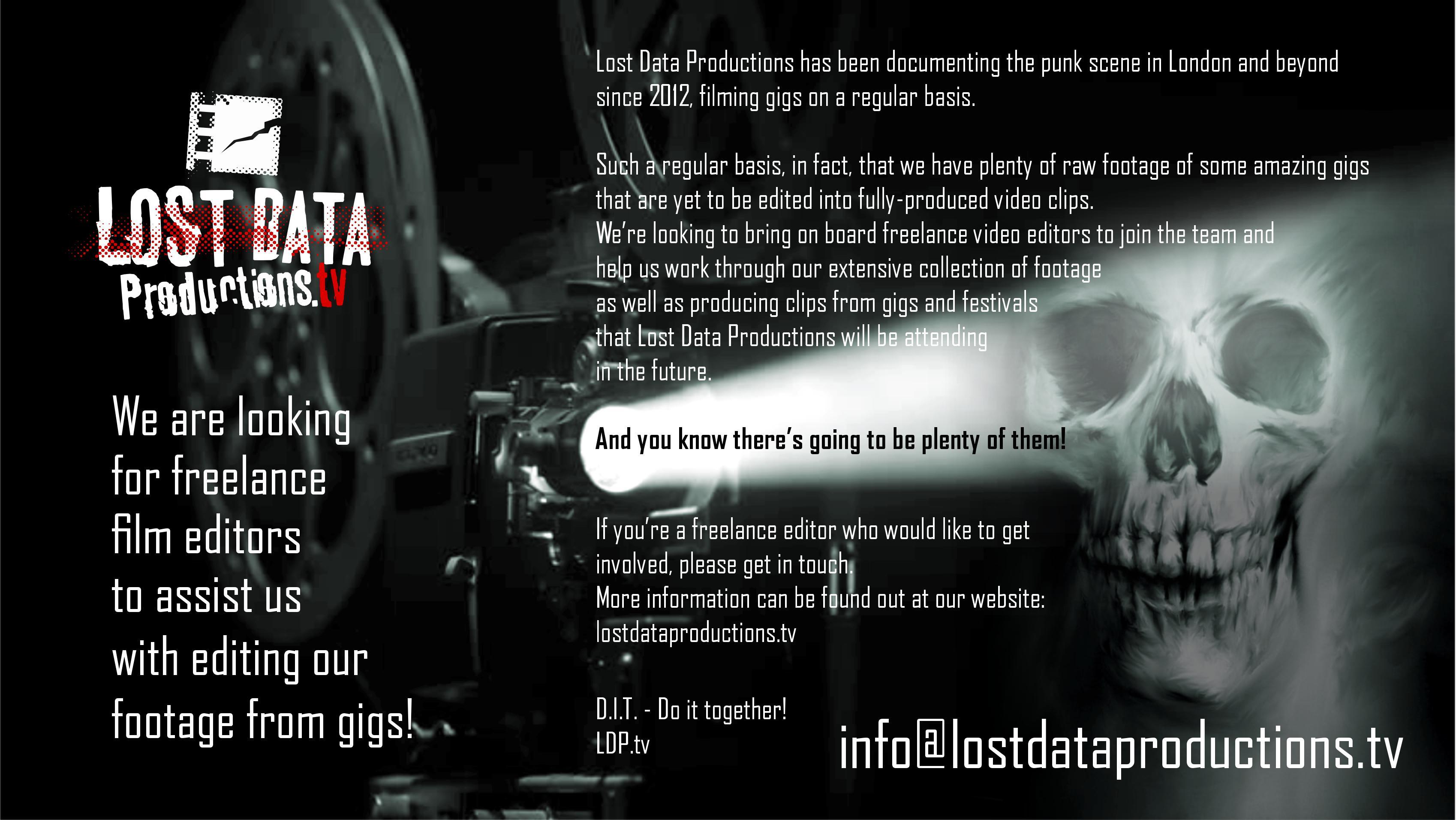 Freelance Film Editors - WE NEED YOU!