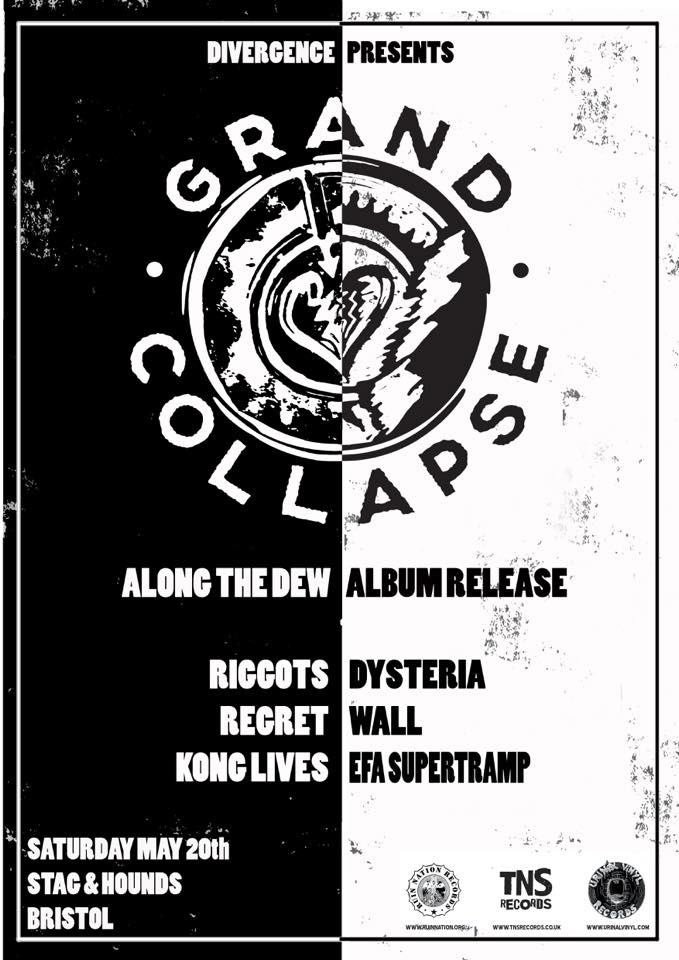 Grand Collapse Along the Dew album launch poster