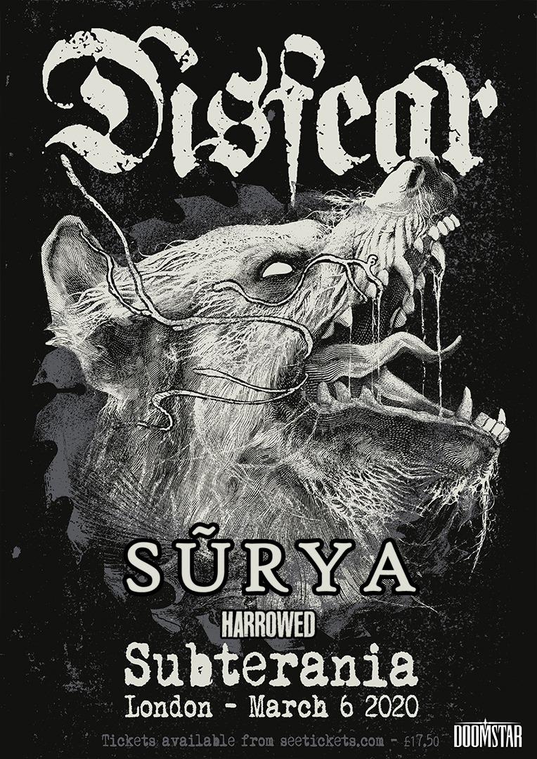 Disfear / Surya / Harrowed at Subterania 6th March 2020